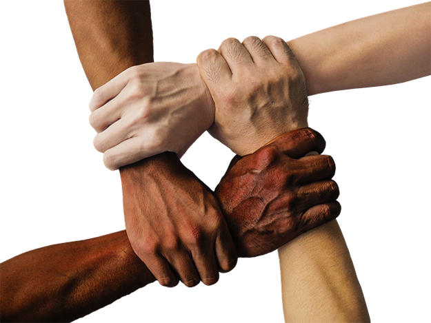 hands joined against social injustice