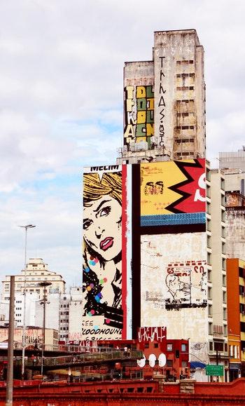 street art on building