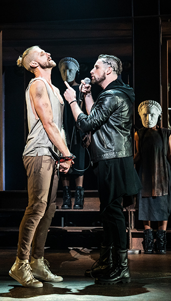 Aaron LaVigne, Tommy Sherlock and the company of the North American Tour of JESUS CHRIST SUPERSTAR. (Photo by Matthew Murphy.)