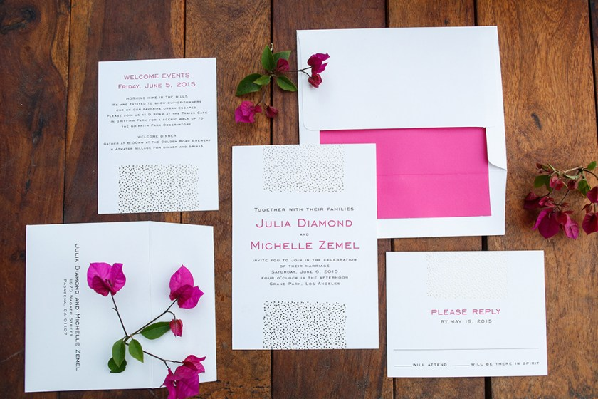 Whimsical Downtown Los Angeles Pink And Orange Outdoor Wedding