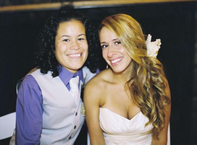 Real Lesbian Fall Wedding Andreia Veronica Anne Robert
