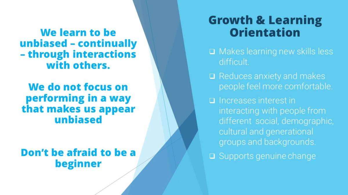 Benefits of a Learning and Growth Mindset for Diversity & Inclusion Success