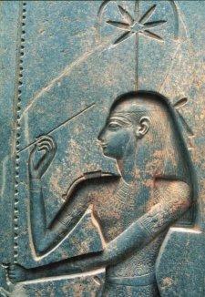 sheshat goddess leaf hemp bast hook