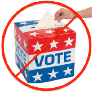 no access ballot box
