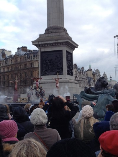 The Passion of Christ in Trafalgar Square