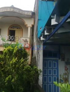 Dinding yang menjadi akar sengketa Marhani dan Nursiyati. Fikri Akbar-RK