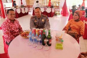 Ketua DPRD Landak, Heri Saman SH MH bersama Kapolres Landak, AKBP Wawan Kristiyanto