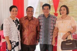 Ketua DPRD Landak, Heri Saman SH MH bersama anggota DPRD Landak, Suparda