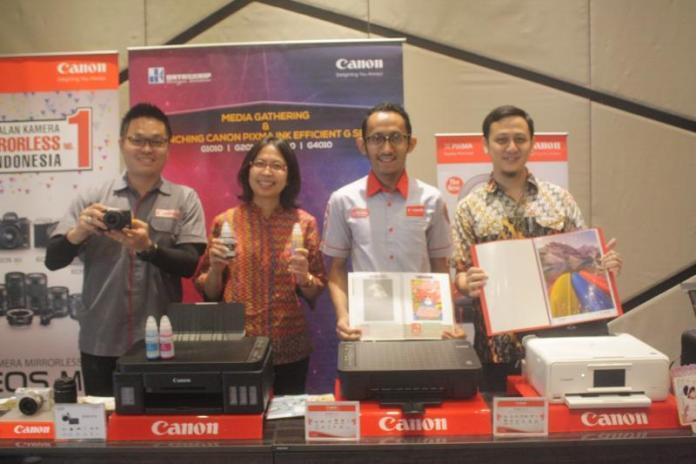 PRODUK BARU. Launching 10 varian terbaru printer Pixma yang dilaksanakan di Hotel Neo Pontianak, Rabu (14/3). Gusnadi-RK