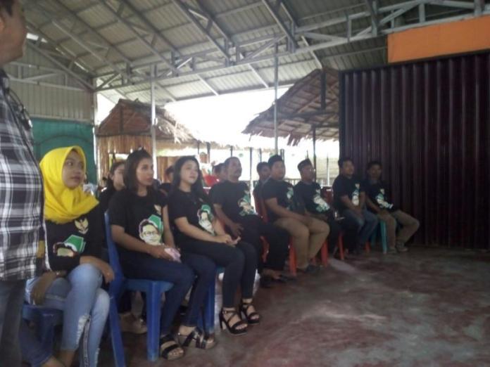Para relawan deklarasi Cak Imin Cawapres yang dihadiri Anggota DPR RI, Daniel Johan di Singkawang, Kamis (1/3) SUHENDRA RK