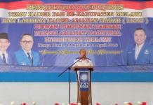 HADIR DI MELAWI. Milton Crosby hadiri pengukuhan pengurus dan temu kader PAN se Kalbar dan LKAD di Melawi, Kamis (12/4). Tim Milboy for RK