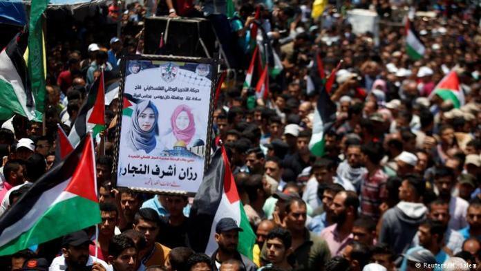 ANTAR KORBAN KEBIADABAN ISRAEL. Pemakaman Razan al-Najjar. dw.com