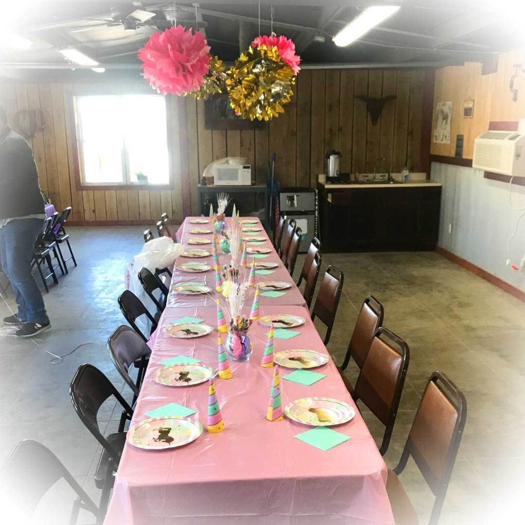 Birthday Party Room at Kraus Farms Equestrian Center
