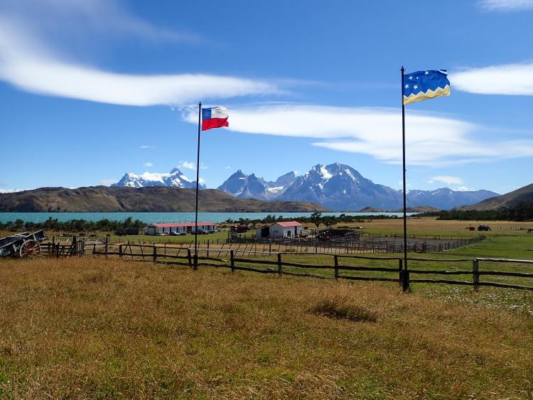 The trail riding stables in Chile near the Torres Del Paine Mountains where Hebe liver her new Gaucha life