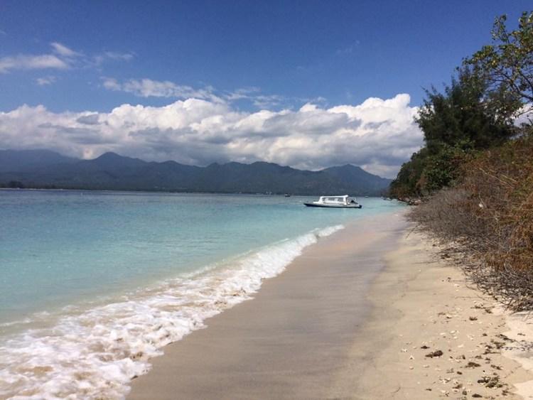 A beach on the Gili Islands