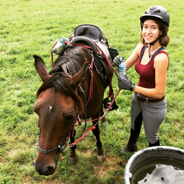 Smiling wouldn't be possible if I didn't do some inner healing with horses.