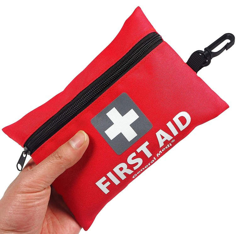 Must have on your packing list for equine adventures: a travel sized first aid kit