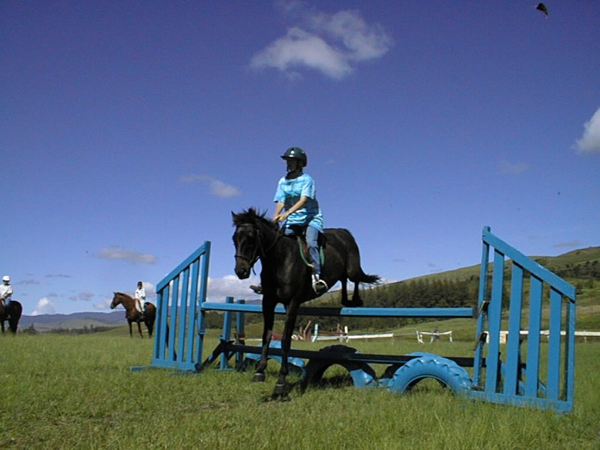 Riding and jumping at a pony club in Papua New Guinea