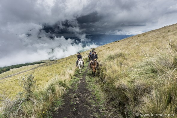 Dramatic clouds in the sky over the Avenue of the Volcanoes, Ecuador.