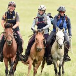 finishing the mongol derby with friends