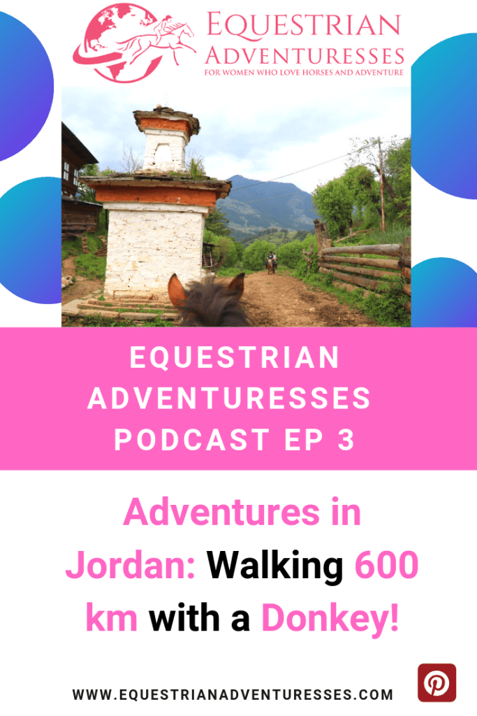 Pinterest podcast photo - Walking Jordan with a donkey