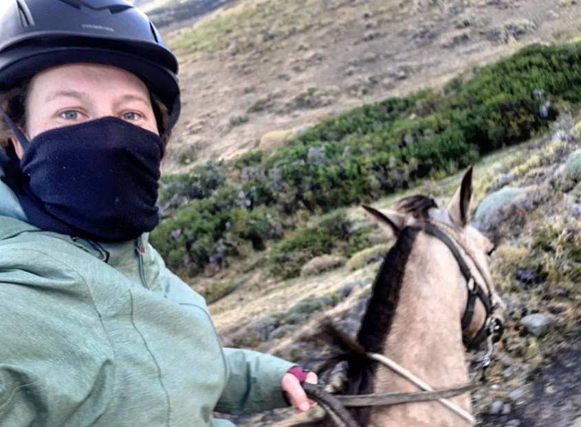 I encountered strong gale force winds during my first endurance ride in Chile