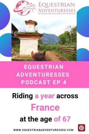 Pinterest podcast photo - Ep 4 Riding a year across France at the age of 67