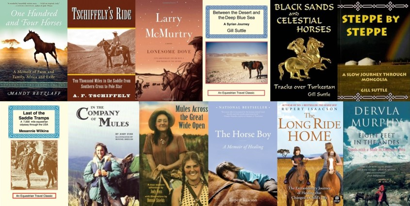 Collections of book covers of the horse travel book list - Part 1