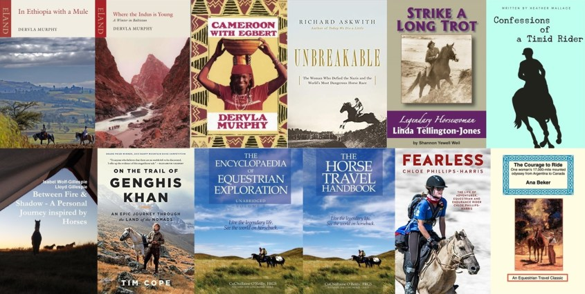 Collections of book covers of the horse travel book list - Part 2 including the horse travel handbook