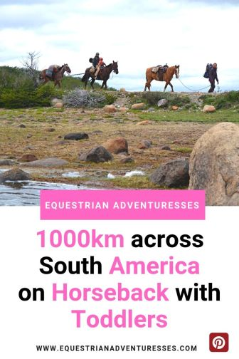 across south america on horseback Pinterest picture