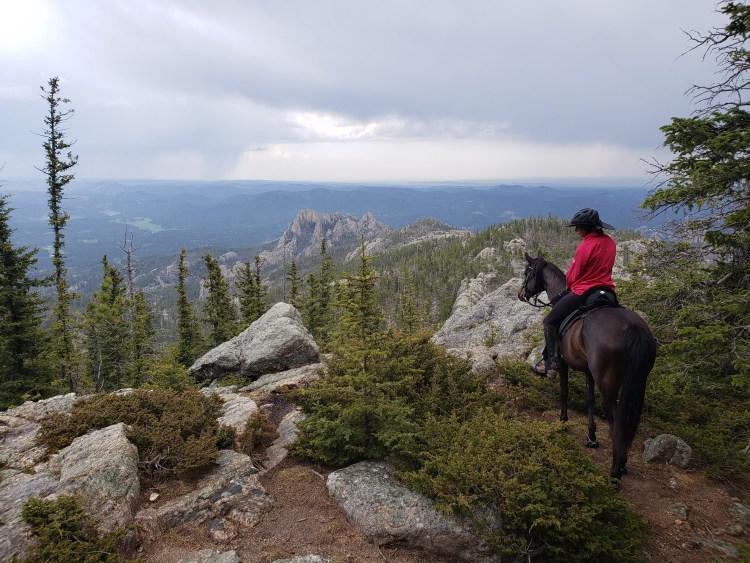 Overlooking the Black Elk Wilderness in South Dakota while traveling across the USA on horseback