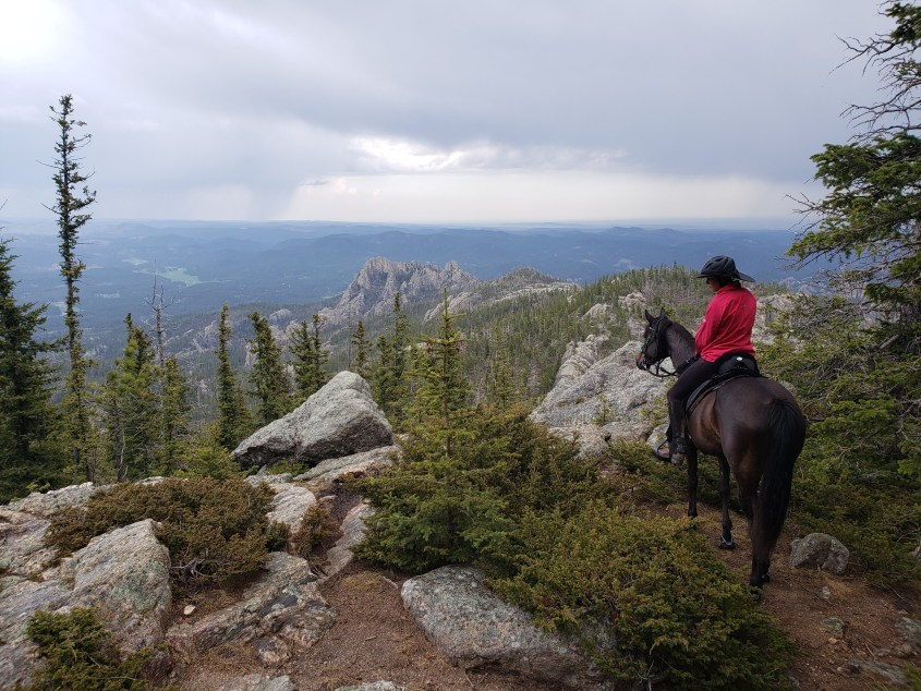 Overlooking the Black Elk Wilderness in South Dakota while traveling across the USA on horseback