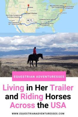 Horse Riding Across the USA Pinterest picture