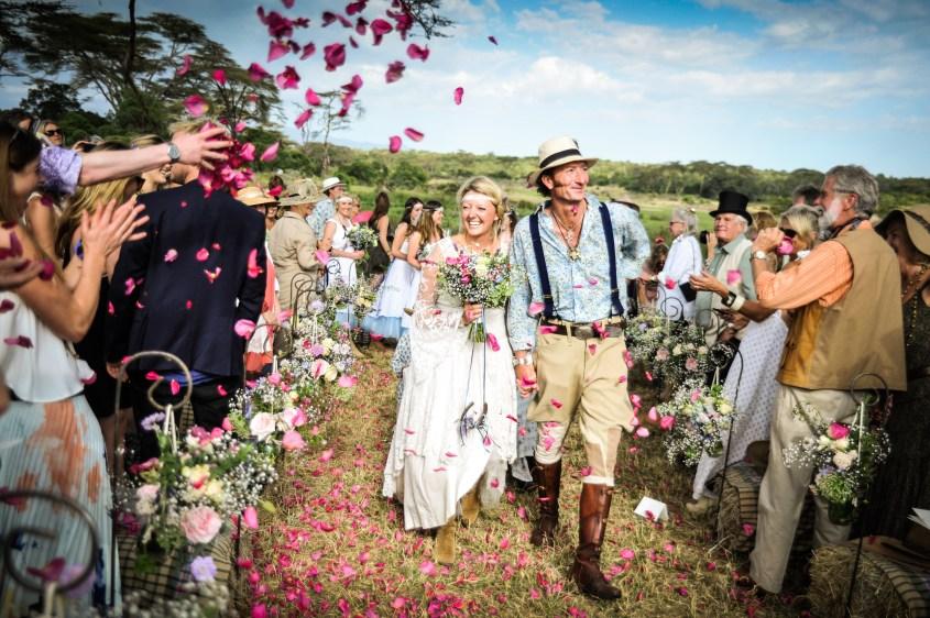 Felicia and Gordie's wedding in Kenya