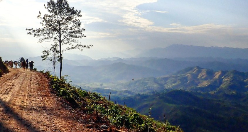 An epic view overlooking the mountainous landscape of Guatemala as seen when travelling the country with a horse caravan