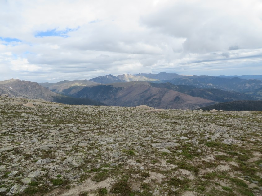Once you climb above the treeline, you'll find a lot of rocks and spectacular views.