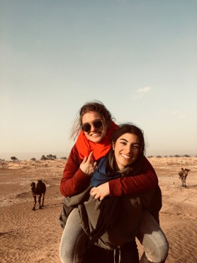 two sisters reunited in Morocco
