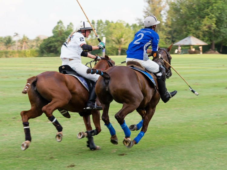 Women Polo Players playing their first tournament in Thailand in 2017