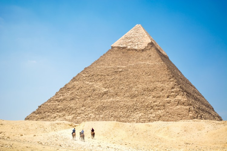 When you are horse riding in Egypt you can actually ride around pyramids. It's the ride of a lifetime!