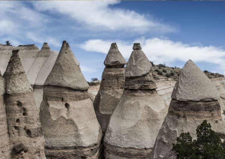 Kasha-Katuwe Tent Rocks owes its remarkable geology to layers of volcanic rock and ash deposited 6 to 7 million years ago