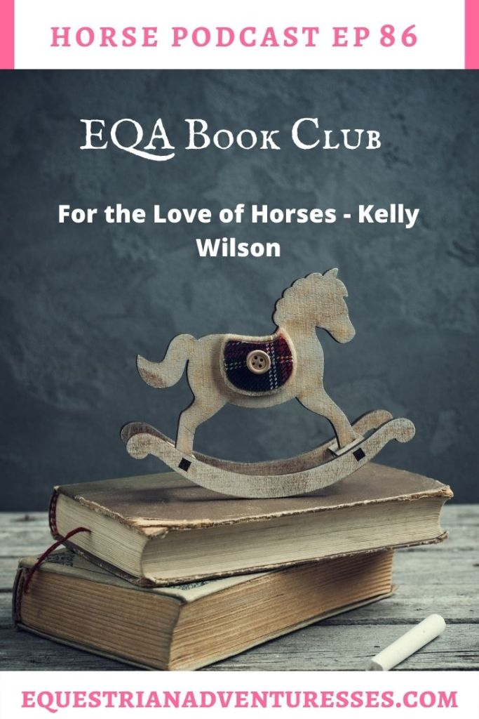 Horse and travel podcast pin - Ep 86 EQA Book Club