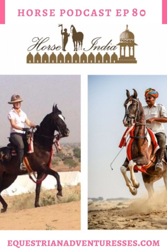 Horse and travel podcast pin - Ep 80 Horse India, Only a dream Away