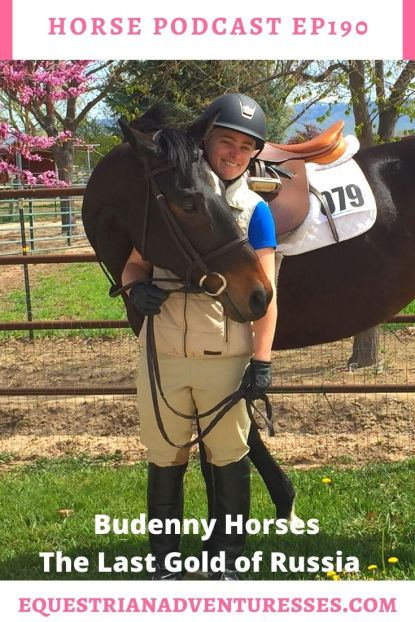 Horse and travel podcast pin - Ep190 Budenny Horses