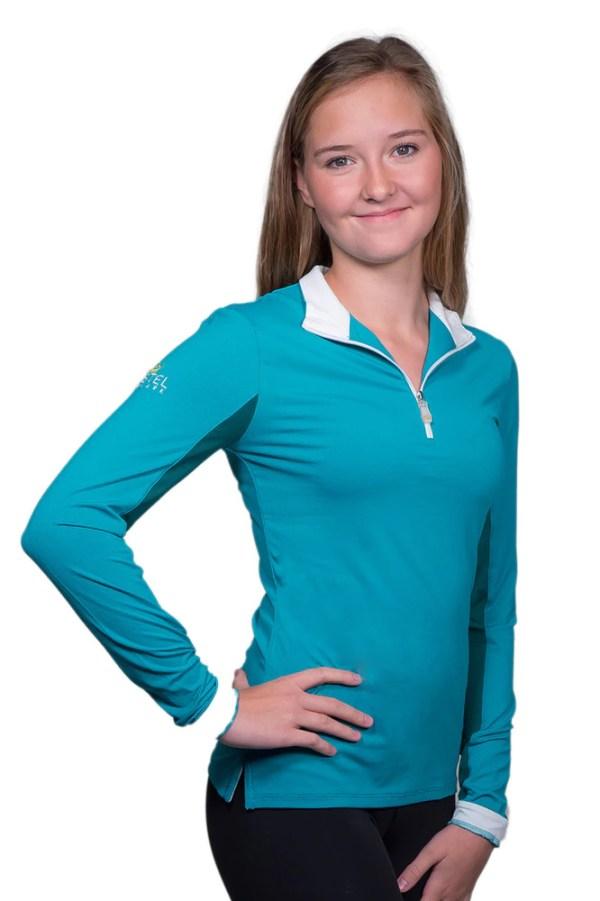 kastel denmak marine green UV riding shirt