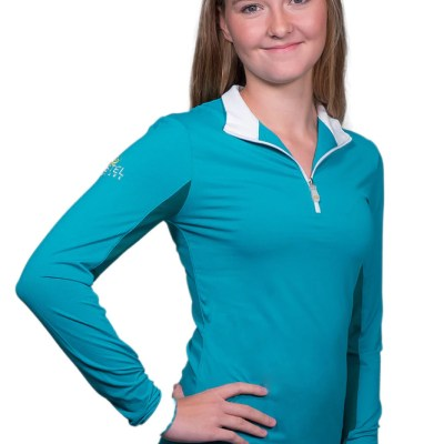 kastel denmak marine green UV riding shirt