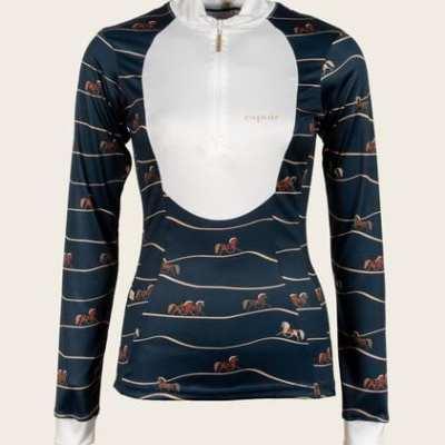 Navy Show shirt equestrian espoir
