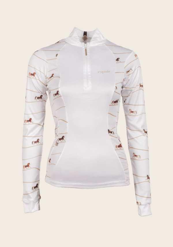 White show shirt equestrian espoir