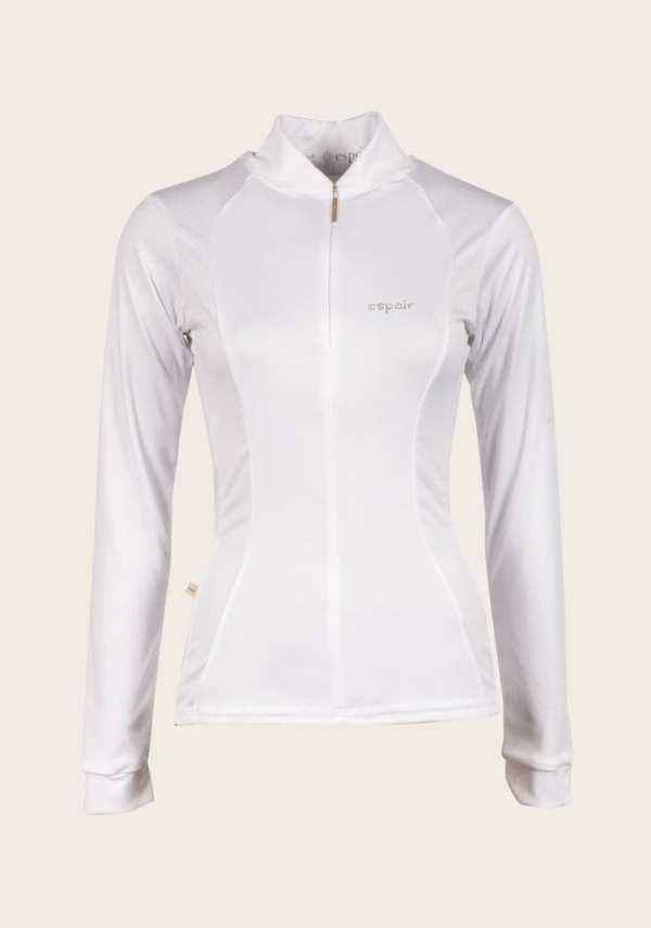 White equestrian show shirt espoir new zealand