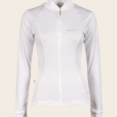 White equestrian show shirt espoir new zealand