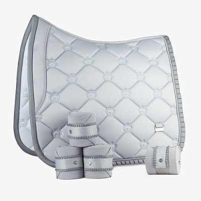 Silver dressage ruffle dressage